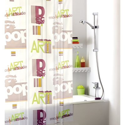 rideau de douche collection pop art adajio articles quincaillerie. Black Bedroom Furniture Sets. Home Design Ideas