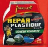 Adhésif renforcé - Repar'Plastique - Transparent - 2 m x 5 cm - IDEES FIX