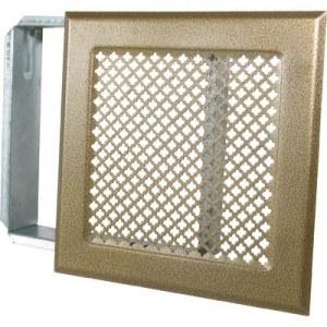 grille d 39 a ration de chemin e bronze 170x 170 mm dmo. Black Bedroom Furniture Sets. Home Design Ideas