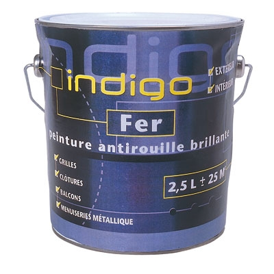 peinture fer antirouille noir 2 5 l indigo articles quincaillerie. Black Bedroom Furniture Sets. Home Design Ideas