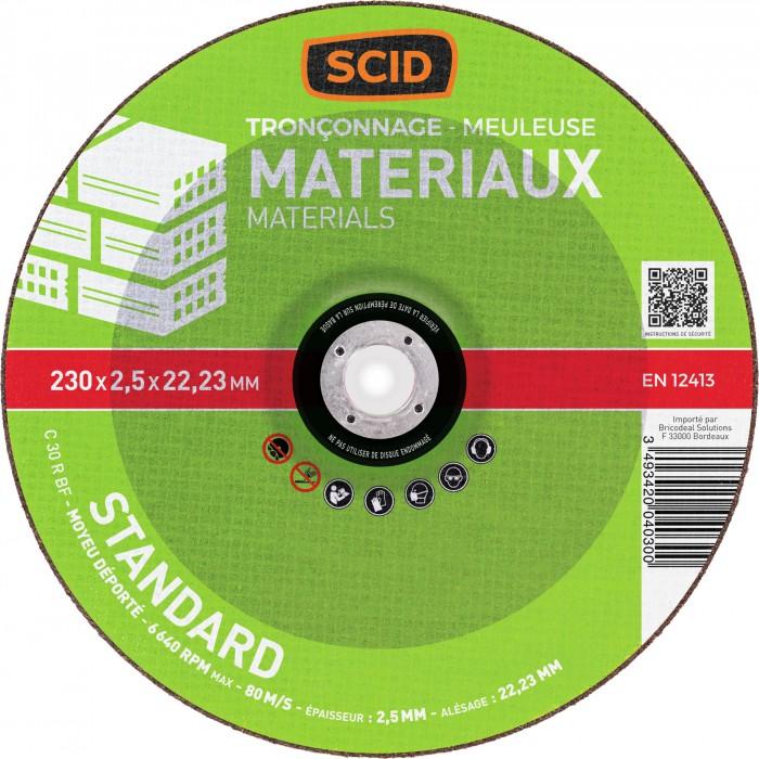 disque tron onner usage standard 230 x 2 5 mm scid. Black Bedroom Furniture Sets. Home Design Ideas