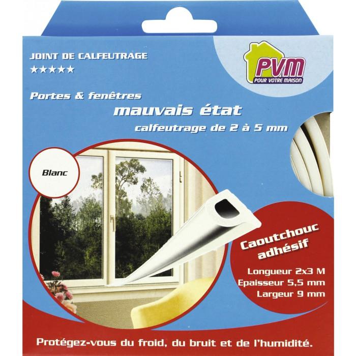 joint de calfeutrage blanc 6 m pvm articles. Black Bedroom Furniture Sets. Home Design Ideas