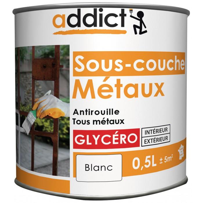 Sous couche m taux glyc ro blanc 0 5 l addict - Sous couche acrylique ou glycero ...