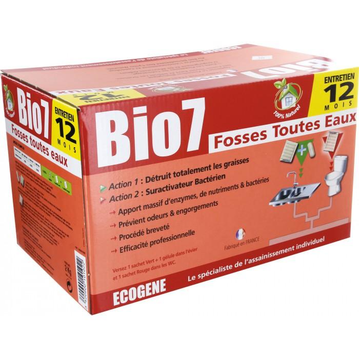entretien fosse toutes eaux 24 doses bio 7 ecogene. Black Bedroom Furniture Sets. Home Design Ideas
