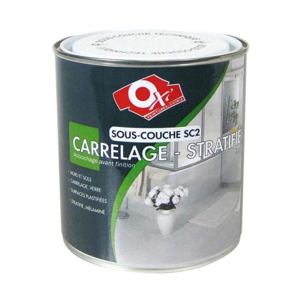 Peinture Sous Couche Verre Et Carrelage   0.5 L   OXI