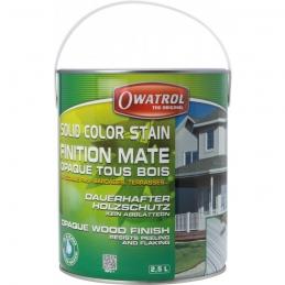 Laque de finition pour bois - Opaque Mate - Solid Color Stain - Blanc - 2.5 L - OWATROL