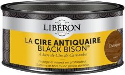 Cire d'antiquaire en pâte - Black Bison - Châtaignier - 500 ml - LIBERON