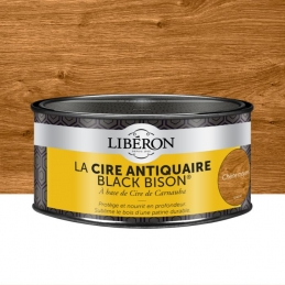 Cire d'antiquaire en pâte - Black Bison - Chêne moyen - 500 ml - LIBERON