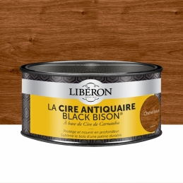 Cire d'antiquaire en pâte - Black Bison - Chêne foncé - 500 ml - LIBERON
