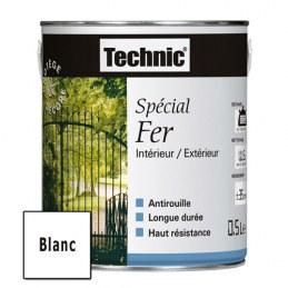 Peinture Spécial Fer - Blanc - 0.5 L - TECHNIC