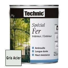 Peinture Spécial Fer - Gris Acier - 0.5 L - TECHNIC
