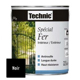 Peinture Spécial Fer - Noir Brillant - 0.5 L - TECHNIC