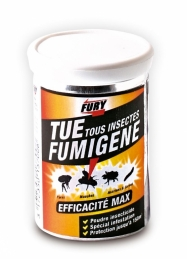 Poudre insecticide - Tue Tous insectes - Fumigène - 150m3 - FURY