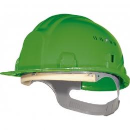 Casque de chantier avec coiffe - Vert - OUTIBAT