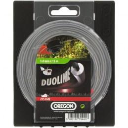 Fil rond pour débrousailleuse - Duoline - 3 mm x 15 M - OREGON