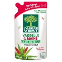 Recharge liquide vaisselle et mains - 2 en 1 - 500 ml - L'ARBRE VERT