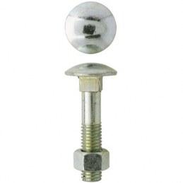 Boulon Japy tête ronde collet carré - Ø8 x 80 mm - Boîte de 100 - GFD