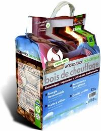 Bûches de bois densifié - Sac de 8 bûches - WOODSTOCK