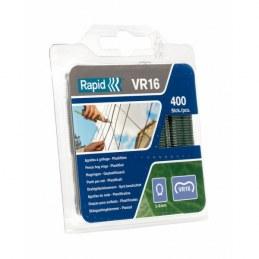 Agrafes VR 16 plastifiés vertes - Boîte de 400 - RAPID