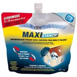 Imperméabilisant murs et façades - Recharge de 1 L - Maxi-étanche - GEB