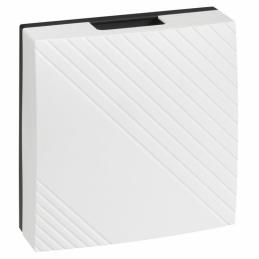 Carillon électromécanique à piles 8V~ à 12V~ Blanc - 2 Notes - Allegro - LEGRAND