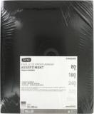 Assortiment de papier abrasif imperméable - 230 x 280 mm - Grain 80, 180, 240, 320, 1000 - Lot de 10 - SCID