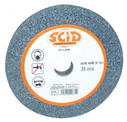 Disque pour meulage et ébardage - Grain 36 - Diamètre 150 mm - Alésage 32 mm - SCID