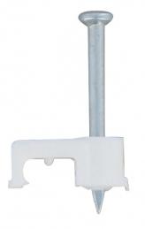 20 Cavaliers Fixfor - pour câble méplat 2 x 1 mm² - Blanc - LEGRAND