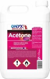 Acétone : Dissolvant pour vernis et peinture - 5 L - ONYX