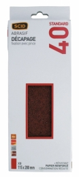 Patin fixation avec pince - 115 x 280 mm - Grain 40 - SCID