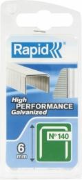 Agrafe n°140 Rapid Agraf - Fil plat - Dimensions 6 mm - 970 agrafes - RAPID