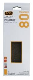 Patin abrasif avec fixation pince 93 x 230 mm - 8 trous - Grain 80 - SCID