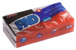 Tampon récurant suréponge synthétique - Tâches tenaces - Lot de 4 - PAD