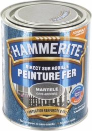 Peinture fer - Martelé Gris - 750 ml - HAMMERITE