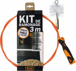 Kit de ramonage - Spécial Poêle à pellets - 3 M - SCID