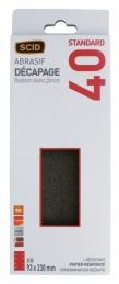 Patin abrasif avec fixation pince 93 x 230 mm - 8 trous - Grain 40 - SCID