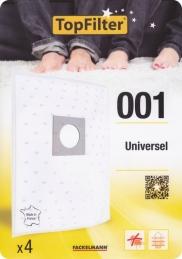 4 Sacs Aspirateur Universel - Model 001 - TOPFILTER