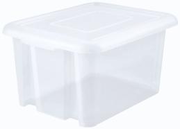 Bac à couvercle - NATUREL - 60 cm x 44 cm x 30 cm