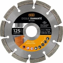 Disque diamentée polyvalent - Coupe à sec - 125 mm - SCID