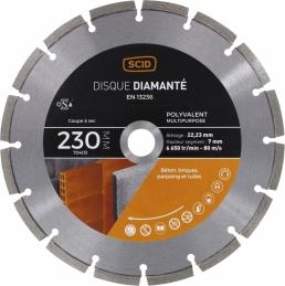 Disque diamentée polyvalent - Coupe à sec - 230 mm - SCID