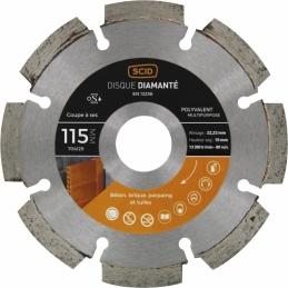 Disque diamentée polyvalent - Coupe à sec - 115 mm - SCID