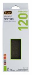 Patin abrasif avec fixation pince 93 x 230 mm - 8 trous - Grain 120 - SCID