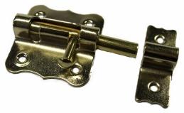 Targette pêne ronde - Laitonné - 45 mm - STRAUSS VONDERWEIDT