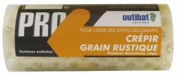 Manchon pour rouleau de peinture - Spécial crépi gros grain - 180 mm - OUTIBAT