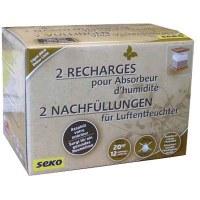 Recharge pour absorbeur d'humidité Déco Sec - Lot de 2 -SEKO