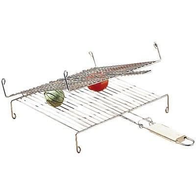 Grille barbecue double avec poignée - 35 cm