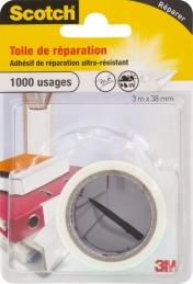 Toile adhésive de réparation - 3 M - Blanc - SCOTCH