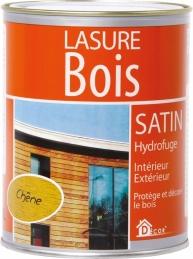 Lasure Bois - Satin - Hydrofuge - Chêne - 0.75 L - RECA