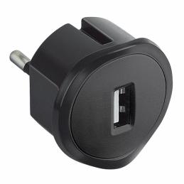 Fiche sans terre chargeur USB - 10 A - chargeur USB 5 V - 1,5 A maxi - Noir - LEGRAND