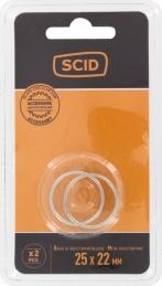 Bague de réduction métal pour lames de scies circulaires - 25,4 x 22,2 mm - SCID